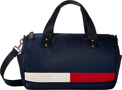 (Tommy Hilfiger Women's Nori Flag Convertible Nylon Duffel Tommy Navy One Size)