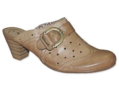 Pantoletten Clogs Tamaris Braune Pantolette braun Schuhe