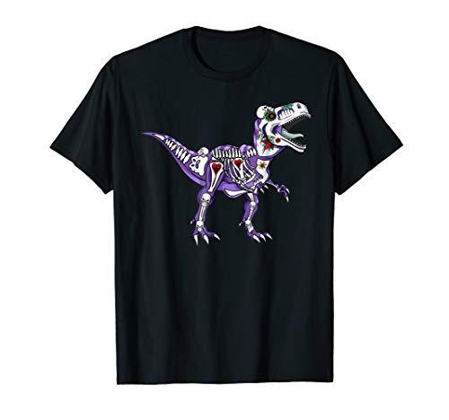 T-rex Sugar Skull Halloween Tee Dia De Los