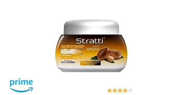 Stratti Argán - Mascarilla Ultra Brillo con Keratina - 550 gr: Amazon.es: Belleza