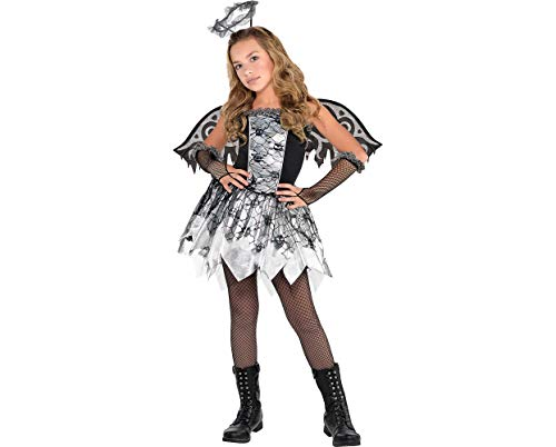 Amscan Girly Costume Fallen Angel Medium (8-10) Party Needs 5 Ct Childrens Supplies, Black for $<!--$22.28-->