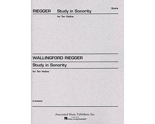 Associated Study in Sonority, Op. 7 (Full Score) Study Score Series Composed by Wallingford Riegger (Sonority Series)