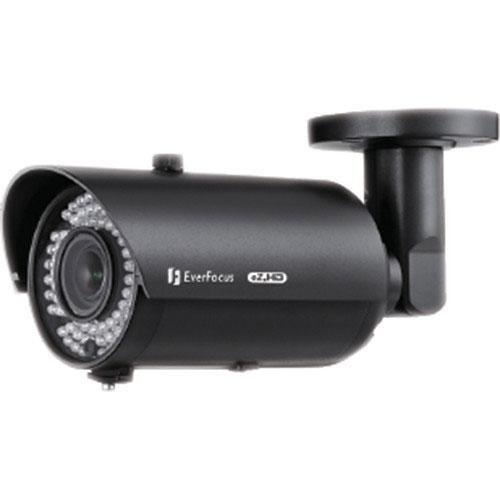 Everfocus EZ930FB 1080P Full Had Day/Night Outdoor Ir Bullet Camera, 2.24 Megapixel, Cmos Sensor, 2.8-12 mm DC Iris Lens, 12VDC/24VAC, black ()