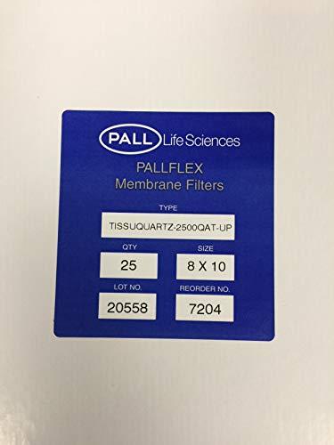 PALL 7204 Pallflex Tissuquartz Air Monitoring Filter, 2500 QAT-UP, 432 µm Thickness, 254 mm L x 203.2 mm W
