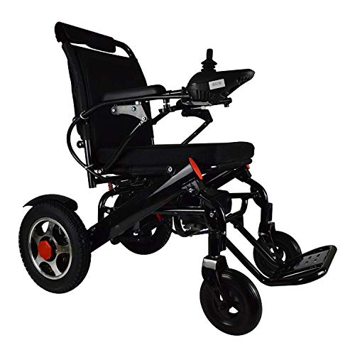 New Lightweight Folding Remote Control Electric Wheelchair Motorized, only 50 lbs Supports up to 350 lbs, FDA Approved (Black) ()