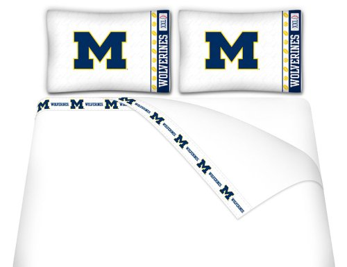 NCAA Michigan Wolverines - 5pc BEDDING SET - Queen Bed in a Bag