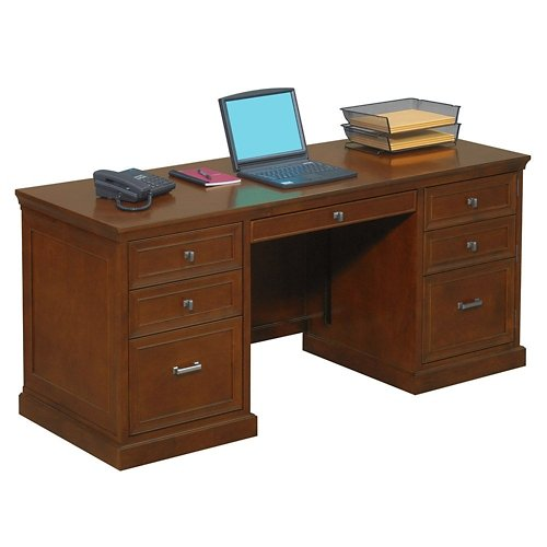 Statesman Computer Credenza Light Chestnut Cherry New by NBF Signature Series