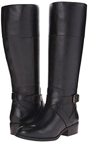Lauren Ralph Lauren Women's Maryann Riding Boot, Black, 7 B US
