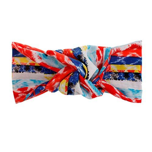 UROSA Women Fashion Headband Boho Print Hairband Knot Tie Headwrap Hair Band Hoop]()