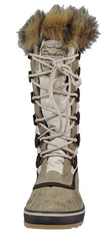 Dockers 336870 Damen Stiefel Lederimitat, Beige, Größe 36