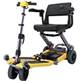 Luggie Mobility Scooter Suitcase: (No), Color: Yellow, Arm Rests: (No)
