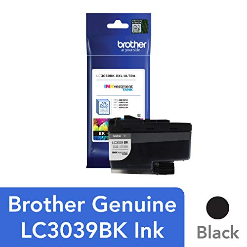 Brother Genuine LC3039BK Single Pack Ultra High-Yield Black INKvestment Tank Ink Cartridge, Page Yield Up to 6,000 Pages, LC3039