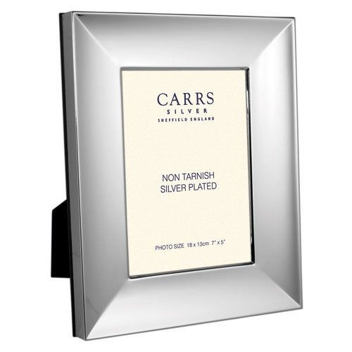 Carrs Blake Wood Back Silver Plated Photo Frame 7x5 Inch
