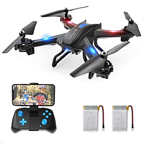 (SNAPTAIN S5C WiFi FPV Drone with 720P HD Camera, Voice Control, Gesture Control RC Quadcopter for Beginners with Altitude Hold, Gravity Sensor, RTF One Key Take Off/Landing, Compatible w/VR Headset)