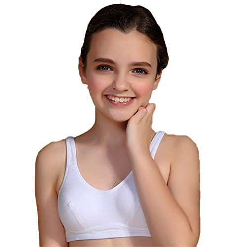 MANJIAMEI Puberty Growing Young Girls Soft Touch Cotton Training Bra With...