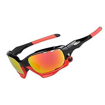 DAYANGE Gafas De Ciclismo Profesionales Gafas De Ciclismo Polarizadas Pesca Gafas De Sol Deportivas Al Aire Libre UV 400 3 Lente 6 Color: Amazon.es: ...