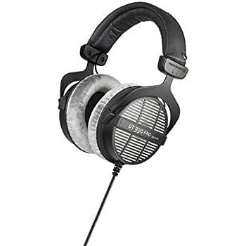 beyerdynamic DT 990 PRO Over-Ear Studio Headphones in black. Open construction, wired