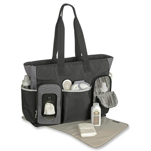 "Graco ""Smart Organizing System"" Onyx Tote Diaper Bag"