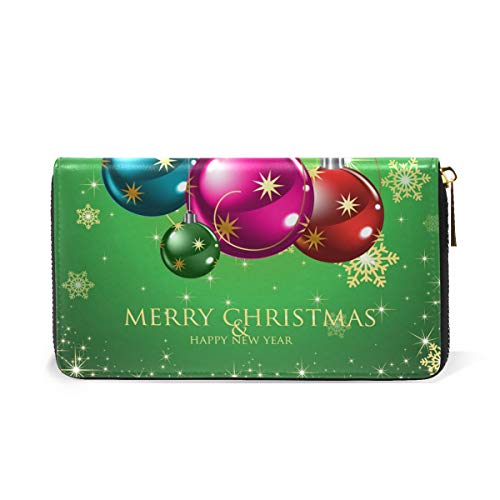 Wallet Organizer Merry Clutch Purses Handbags Zip Happy amp; And Year TIZORAX Around Christmas New Womens 6Rpdqw
