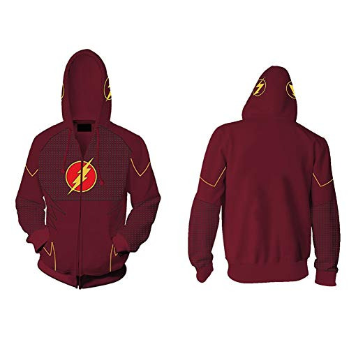 The Flash Mens Cosplay Costume Hoodie (Red, XX-Large) ()