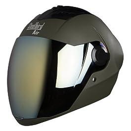 Steelbird SBA-2 Matt ABS Helmet with Gold Visor, (580mm, Battle Green)