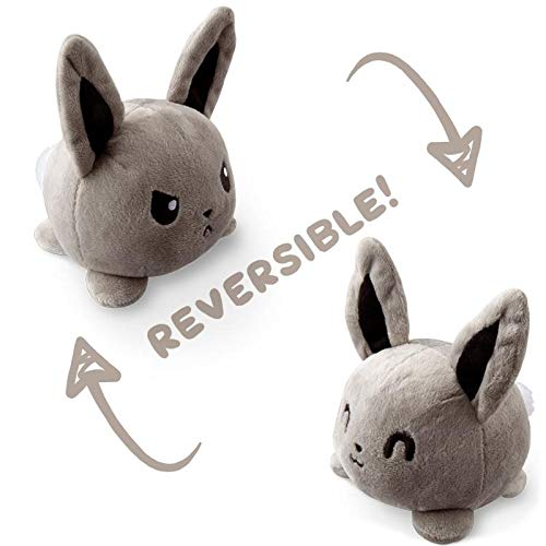 (TeeTurtle Reversible Bunny Mini - Gray Plush Toys )