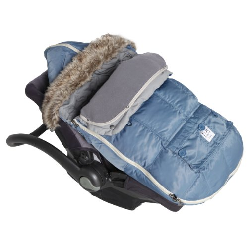 7AM Enfant ''Le Sac Igloo'' Footmuff, Converts into a Single Panel Stroller and Car Seat Cover, Denim, Large by 7AM Enfant