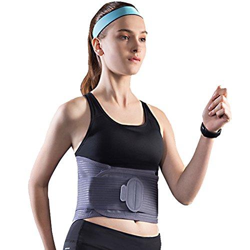Medical Elastic Waist Belt Workout Full Body Waist Bandage Losing Weight Trainer Slim Belt,Gray,XL (Best Full Body Workout For Losing Weight)