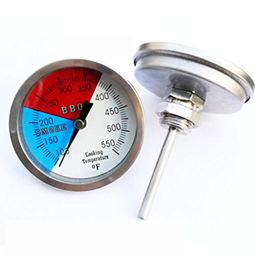 Smoker Thermometer SS Thermostat Temp 1/2