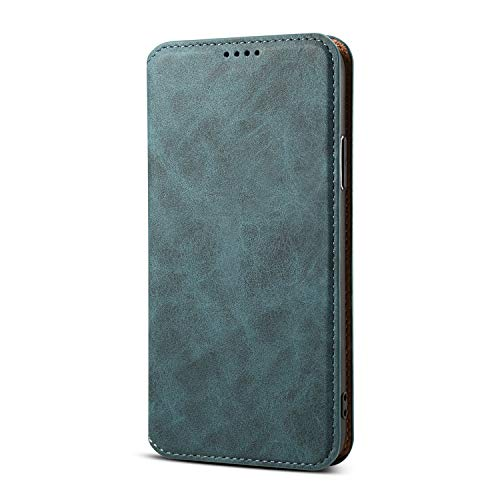 Case Cover for Apple iPhone XR 2018 6.1 Inch,Soft Leather Blue Slim Full Protection Kickstand Fold Money Card Holder Men Women Wallet Shell