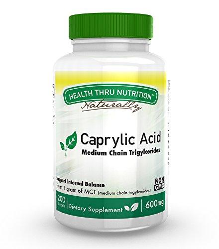 Caprylic Acid 600mg softgels Non GMO
