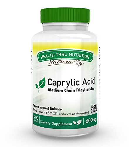 Caprylic Acid 600mg softgels Non GMO product image