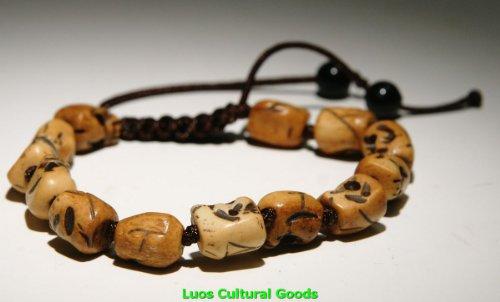 Luos Ox Bone Skull Bracelet - J139 ()