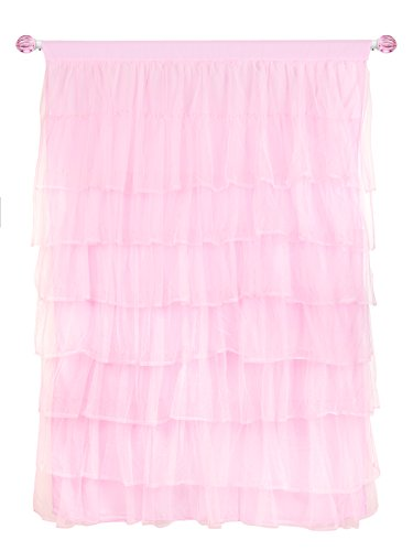 Tadpoles Multi-Layer Tulle Curtain Panel, Pink, 63''