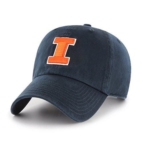 Illinois Fighting Illini Metal (NCAA Illinois Fighting Illini Women's OTS Challenger Adjustable Hat, Navy, Women's)