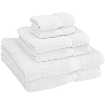 Superior 900 GSM Luxury Bathroom 6-Piece Towel Set, Made of 100% Premium Long-Staple Combed Cotton, 2 Hotel & Spa Quality Washcloths, 2 Hand Towels, ...