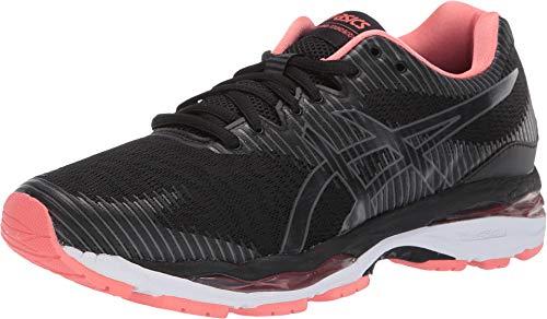 ASICS Gel-Ziruss 2 Women's Running Shoe, Black/Dark Grey, 8.5 B US