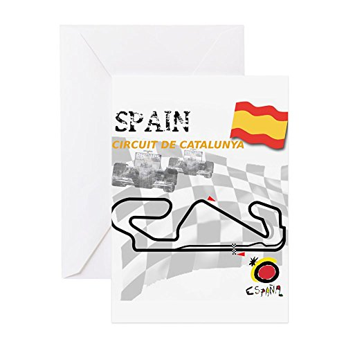 F1 Grand Prix Card - CafePress - Spanish Grand Prix - Greeting Card, Note Card, Birthday Card, Blank Inside Glossy