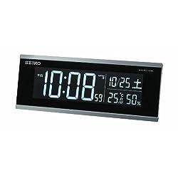 SEIKO CLOCK ( Seiko clock ) alternating-current new LCD digital radio alarm clock ( black ) DL206S
