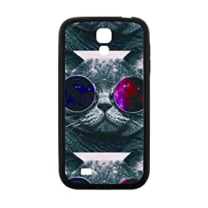 JIUJIU Colorful glasses cat Cell Phone Case for Samsung Galaxy S4