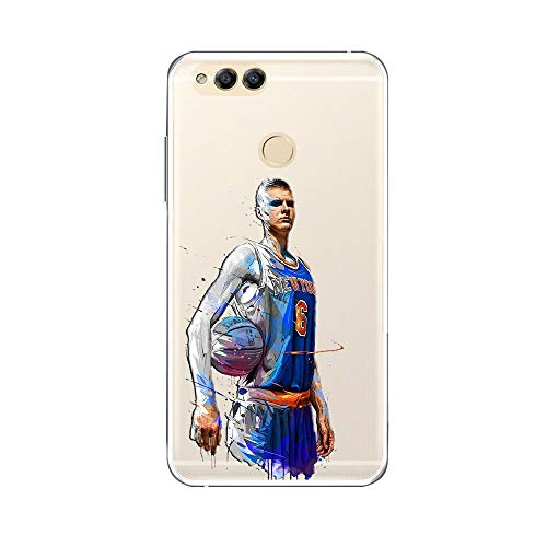 1 piece Cool Jordan James Kobe Dunk nba for huawei honor 7x case Silicone Soft Clear TPU Painted Player Protection Phone back cover