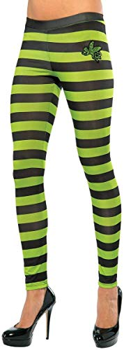 Rubie's Women's Wizard Of Oz Wicked Witch Of The West Leggings, Black/Green, One Size -