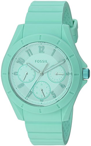 Fossil-Womens-ES4188-Poptastic-Sport-Multifunction-Mint-Silicone-Watch