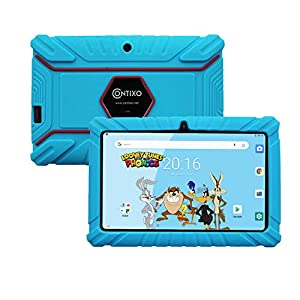 Contixo V8-2 7″ Android 16GB Kids Tablet Parental Control Learning Education Apps on Google Certified Playstore Toy Tablet for Kids, Kids- Proof, WiFi Camera Best Gift (Blue)
