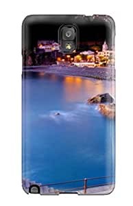 Defender Case For Galaxy Note 3, Beautiful House At Sea Entrance Pattern