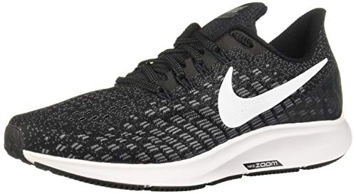 Nike Women's Air Zoom Pegasus 35 Running Shoe Wide Black/White/Gunsmoke/Oil Grey Size 7.5 Wide US