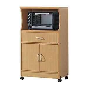 Amazon Com Microwave Cart With Storage Doors Drawer