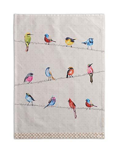 Maison d' Hermine Birdies On Wire 100% Cotton Set of 2 Multi-Purpose Kitchen Towel Soft Absorbent Dish Towels | Tea…