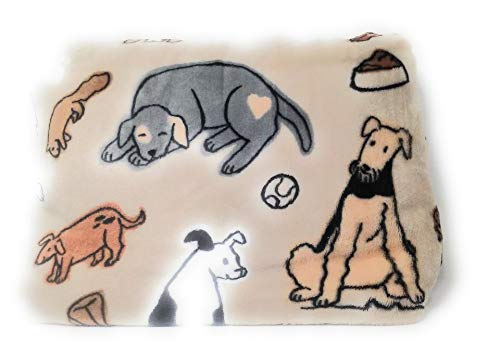 The Big One Throws, Assorted Designs (Tan - Dogs)