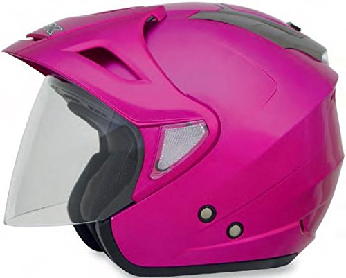 AFX FX-50 Solid Helmet, Distinct Name: Fuchsia, Gender: Womens, Helmet Category: Street, Helmet Type: Open-face Helmets, Primary Color: Pink, Size: Md 0104-1567 Afx Street Helmet